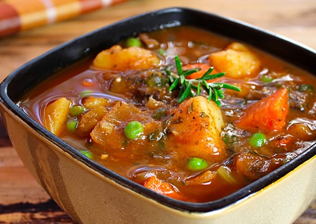 Warming meatless stew