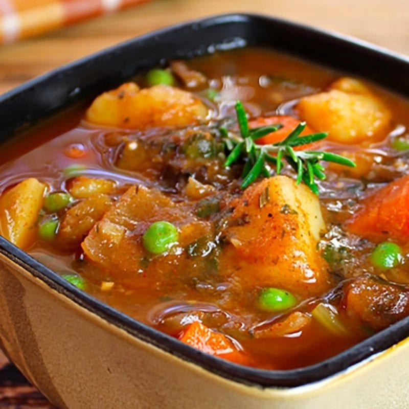Warming meatless stew